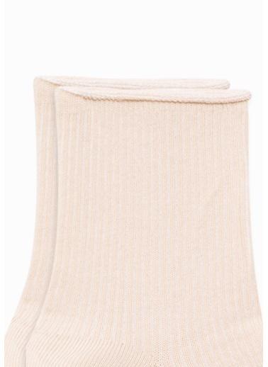 Mavi  Soket Çorap Bej